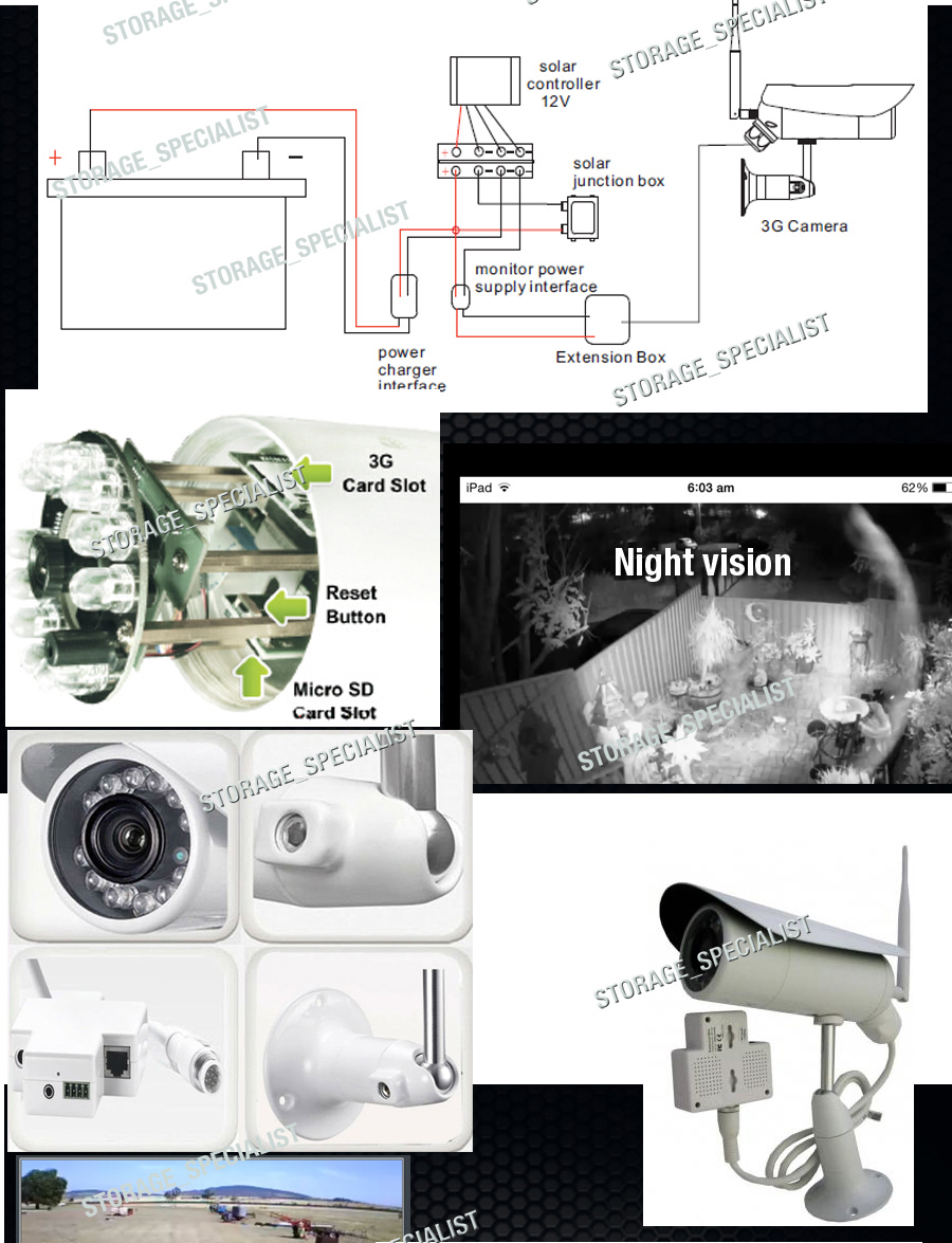 Wireless Farm Security Camera Solar System 3g Gsm Alarm Cctv Home Remote Monitor