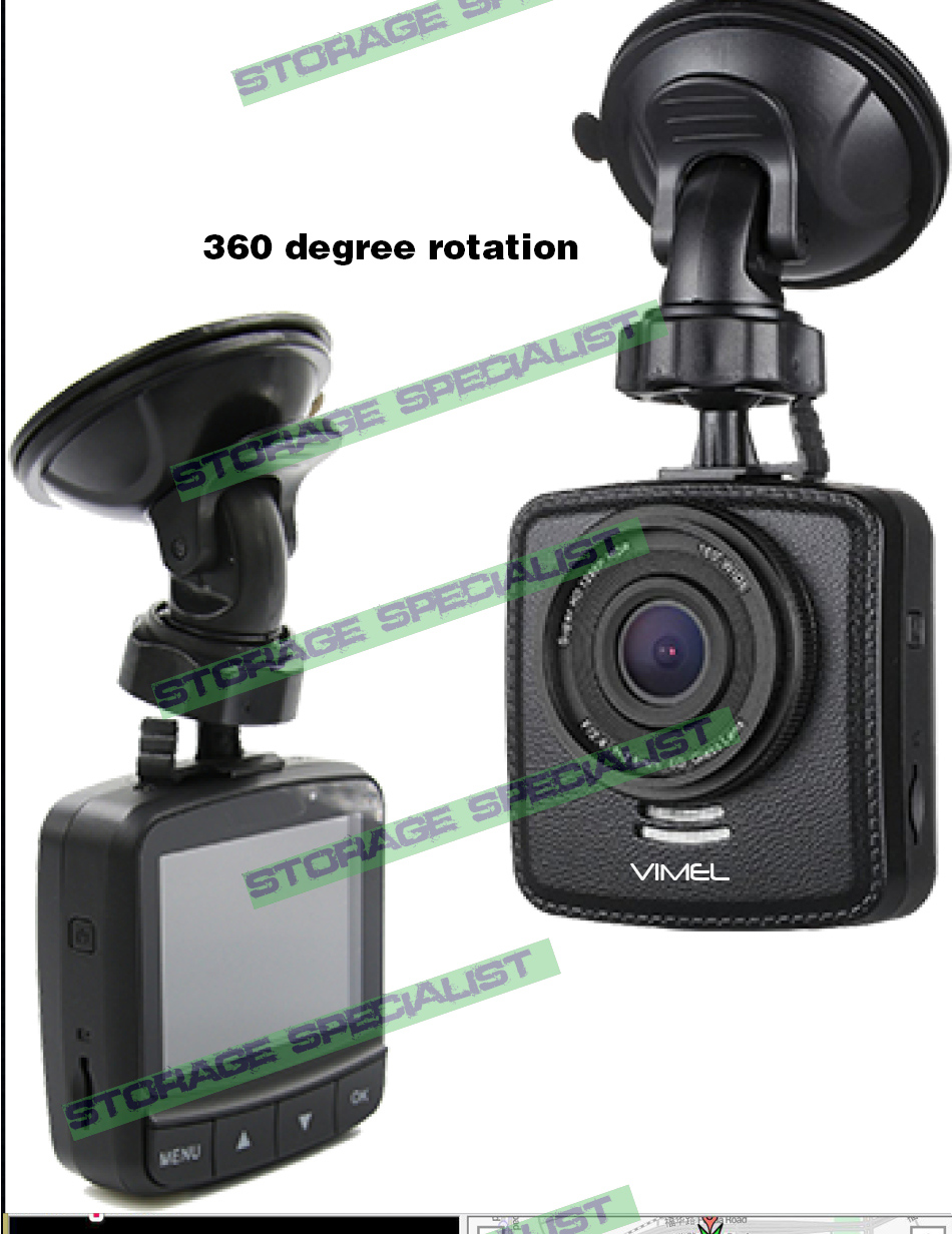 Dash Camera GPS Ambarella A7 1296 Hardwired Car Security Parking Crash 0806 0805