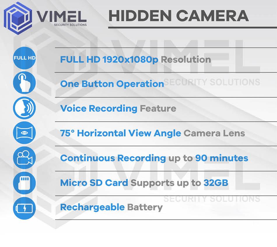 Professional Spy Hidden 32GB Car Key Camera Voice Recorder Evidence Proof