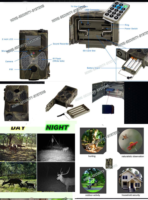 Home Security Camera Wireless Trail Cam Night Vision Ir 1080p No Spy Hidden