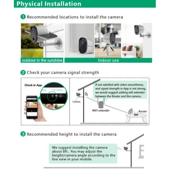 Battery Powered Wireless Security Camera with Solar