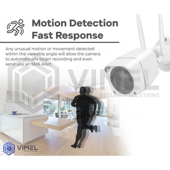 VIMEL 4G Security Camera ULTRA HD 2K 5Mpx