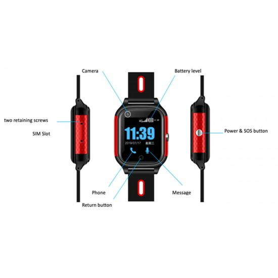 4G Smart GPS Watch Tracker for Kids and Elderly