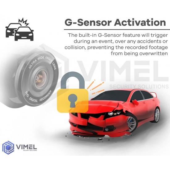 VIMEL Dual Dash Camera GPS WIFI 4K Car