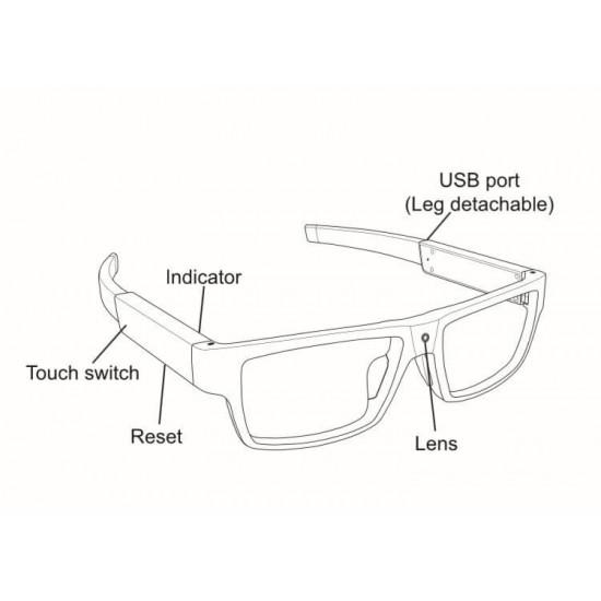 High quality spy glasses camera 1080P