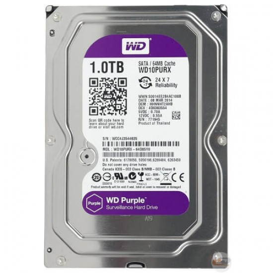 """3.5"""" 1TB HDD WD for Security system"""