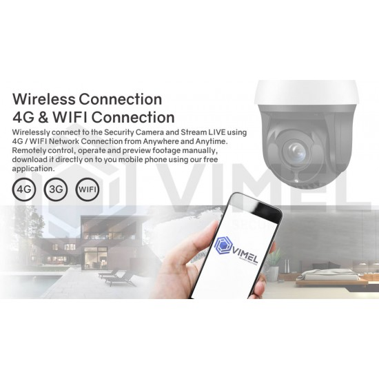 Human Detection 4G SIM Card Security Camera 30X Optical 5MP 2K