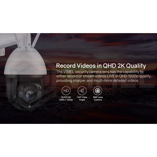 Human Detection 4G Solar Security Auto Tracking Camera 30X Optical 5MP 2K