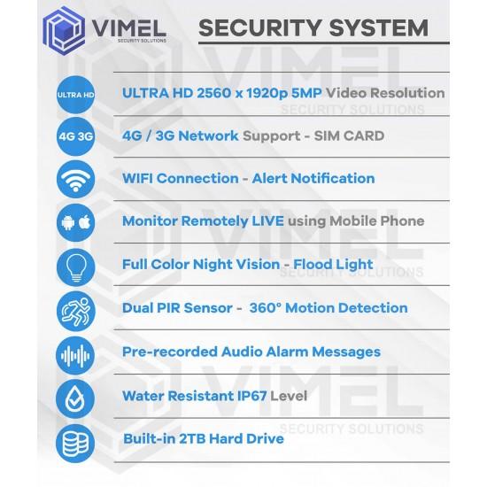 360 Degree 4G Construction Flood Light Camera System