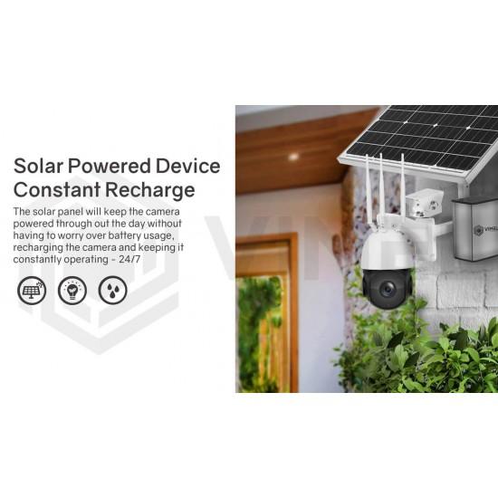 4G Camera Solar Powered Farm 2K 5MP Security