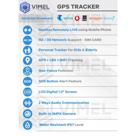 4G Personal GPS Tracker for Kids and Elderly