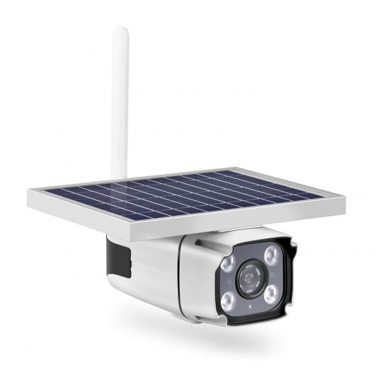 4G Flood Light Home Security Camera Solar Battery Powered Outdoor