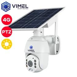 4G Flood Light 24/7 Security Solar Powered PTZ Camera