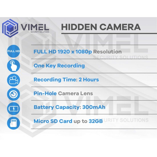 Professional Portable Hidden Car Key Camera One Button Operation