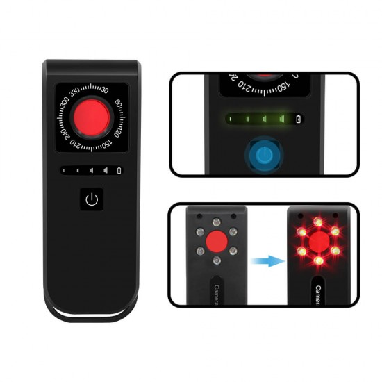 Spy Hidden Camera Detector LED View Finder