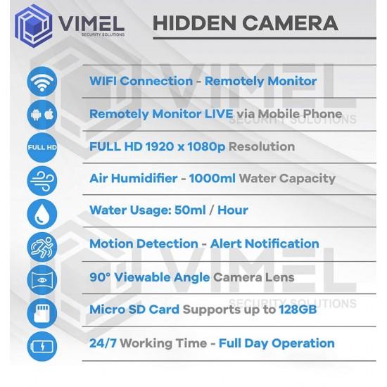 Air Humidifier Hidden Spy WIFI Camera