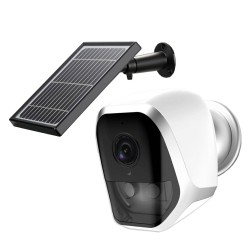 Wireless Home Outdoor Security WIFI Camera Dual PIR Solar Charged Long Battery