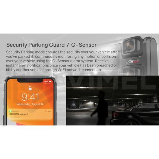24/7 Security Monitoring Dual Dash Camera Parking Guard