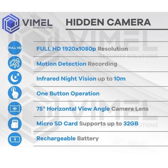 Mini Spy Power Bank Hidden Camera IR Night Vision Device