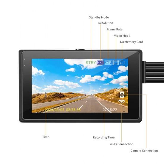 Dual Motorbike Camera WIFI Super Capacitor