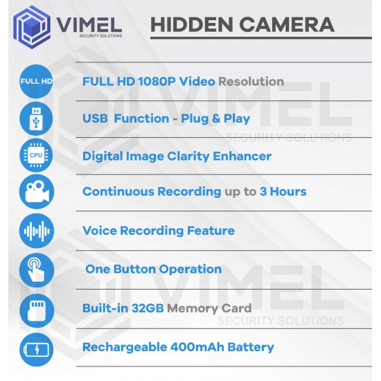 Spy Pen Camera 3 Hours Long Battery 1080p