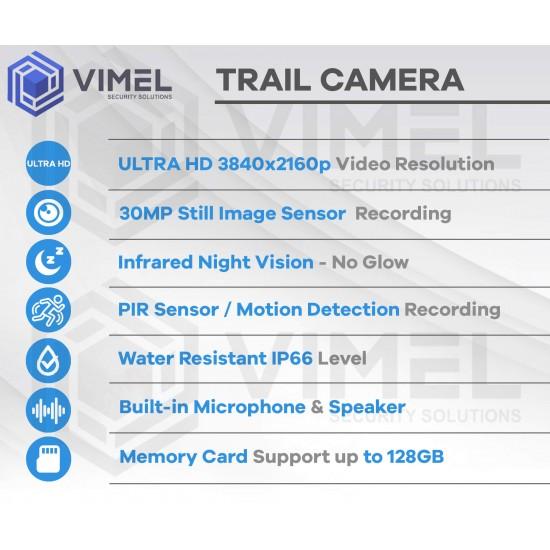 Wildlife Hunting Ultra HD 4K Trail Outdoor 30MP Camera