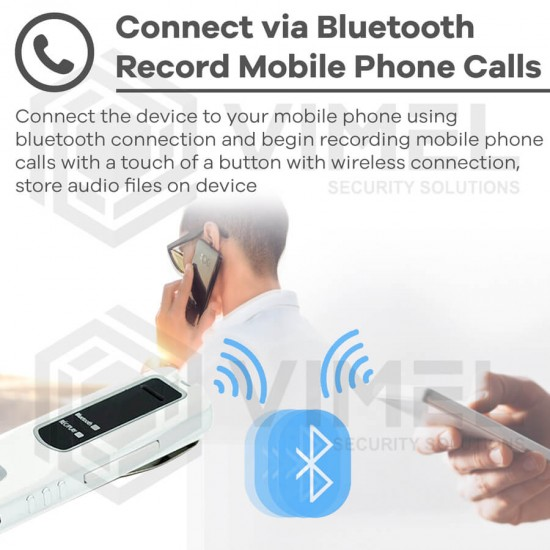 Wireless Bluetooth Voice Recorder for Mobile Phone Calls