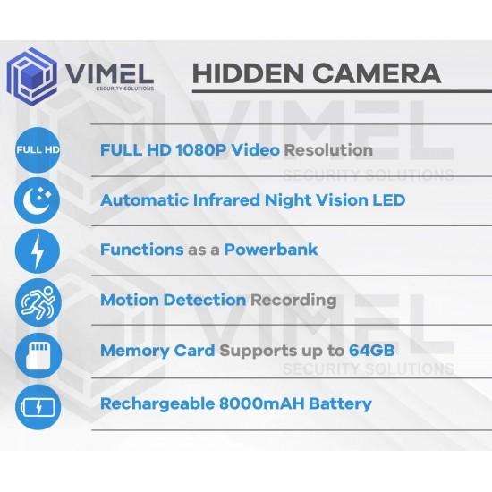 Super Night Vision Spy Power Bank Camera