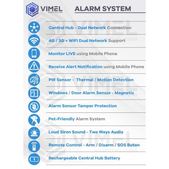 Wireless 4G Alarm Home System WIFI