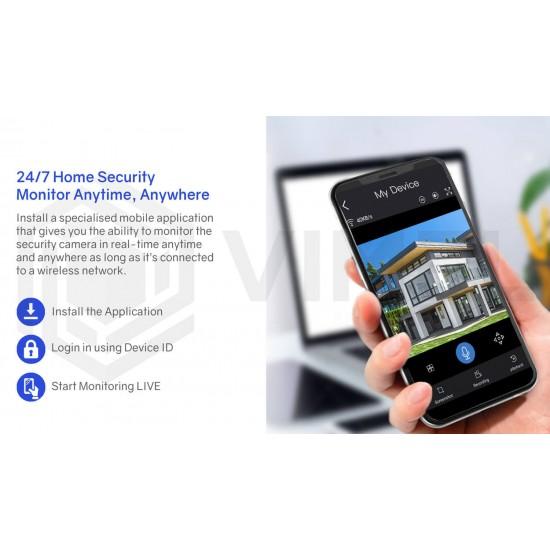 24/7 Solar 4G Security Camera PTZ SIM Card