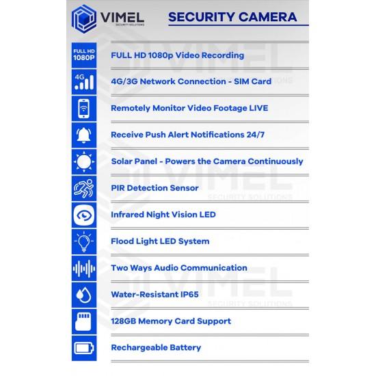 4G Night Security PTZ Camera SIM-Card