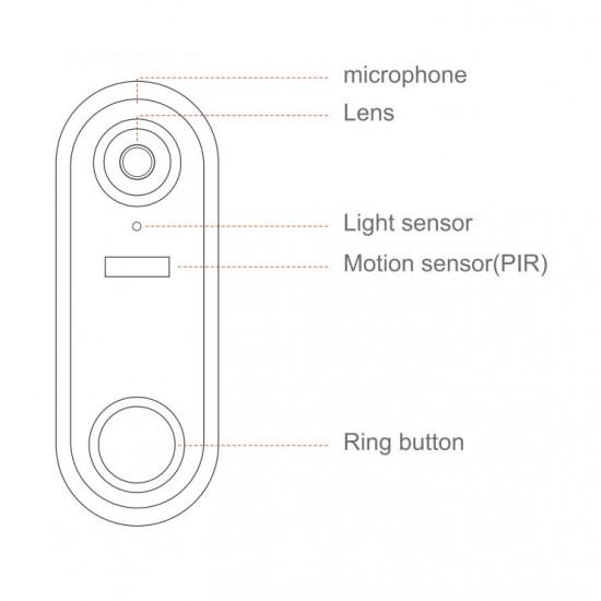 Wireless Door Bell IP Security Camera Electronic Lock