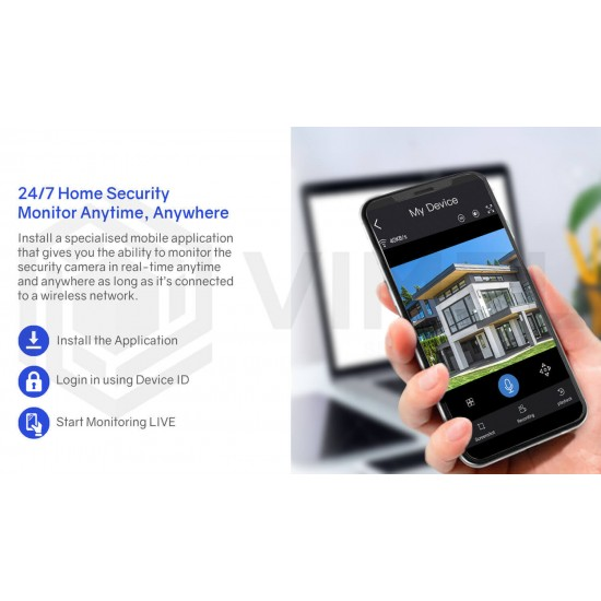 WIFI House Security Camera Night PTZ