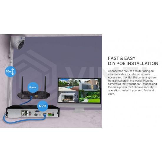VIMEL DIY NVR Security Home System 5MP