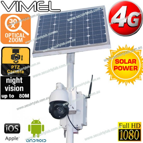 4G Construction Camera HD 1080P Solar Optical 30X PTZ