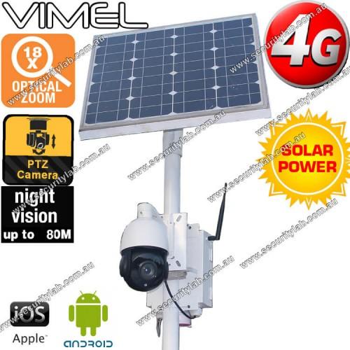 4g Security Camera Solar Ptz Optical Zoom Live Video Stream 3g