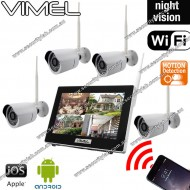 Wireless Home Security Cameras Alarm System Remote View