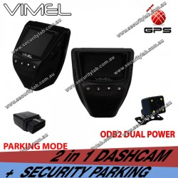 Vimel Dual Dash Camera GPS Taxi Uber Security Parking Guard