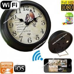Spy Clock Camera WIFI IP Hidden Recorder 1080P