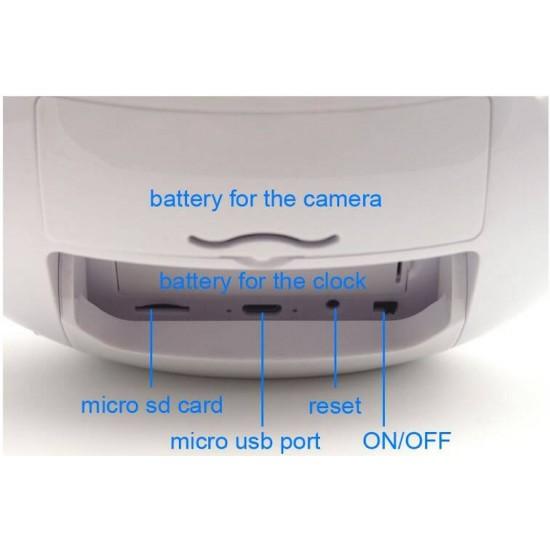 Hidden Clock Camera WIFI Live View 2 Ways Audio