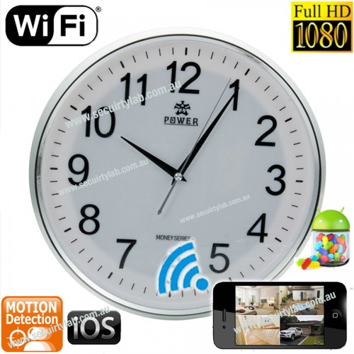 622541b19a57 Wall clock Camera Spy IP Motion Activated