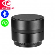 Wireless spy camera with speaker motion activated