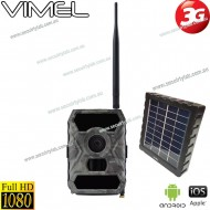 3G Trail Camera Wildlife Wireless Game Cam Solar Battery