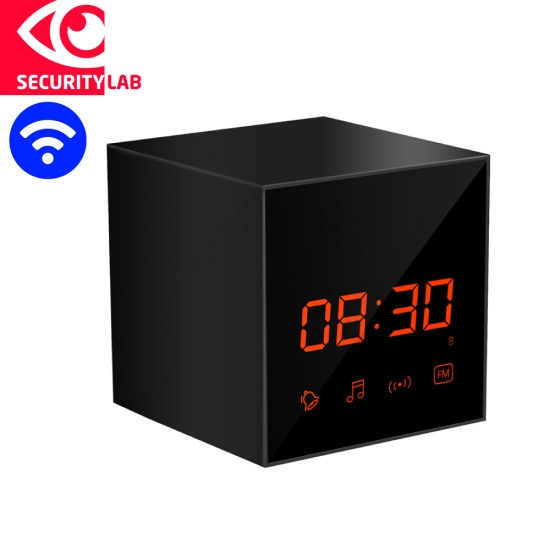 Wireless spy camera clock with speaker motion activated