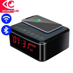 Wireless Charger WIFI Alarm Clock Spy Camera